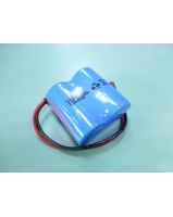 2.4V 2500mAh 2xC ni-cd battery pack ( Size C side by side ) with 2 wire output - SKU/CODE: UR2500C112WL