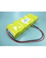 6V 5000mAh emergency light battery pack with two cable - SKU/CODE: UR5000D115WL