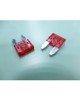 10A Red colour mini blade car fuse - SKU/CODE: F100-10AS-10