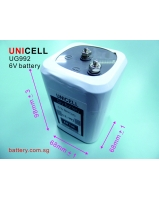 6V lantern battery with screw terminal - SKU/CODE: UG992