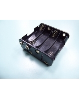 8 X AA battery holder with mini snap - SKU/CODE: TBH214AA-SP
